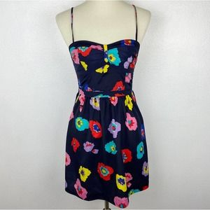 American Eagle Outfitters Floral Multicolor Strappy Tie Back Dress Size 4